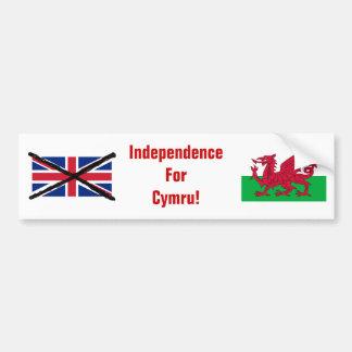 Welsh Independence bumper sticker