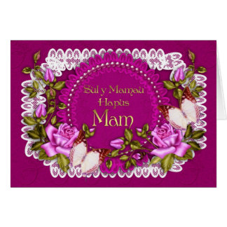 Welsh Language Mother's Day Card - Sul Y Mamau Hap