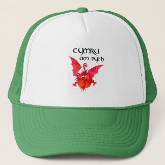 Welsh Language Red Dragon 'Wales Forever!' Trucker Hat