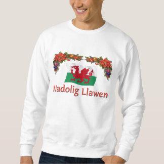 Welsh Merry Christmas Pull Over Sweatshirts