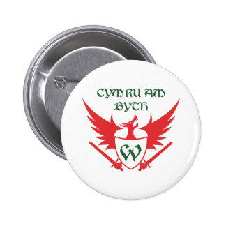 WELSH MOTTO BUTTON