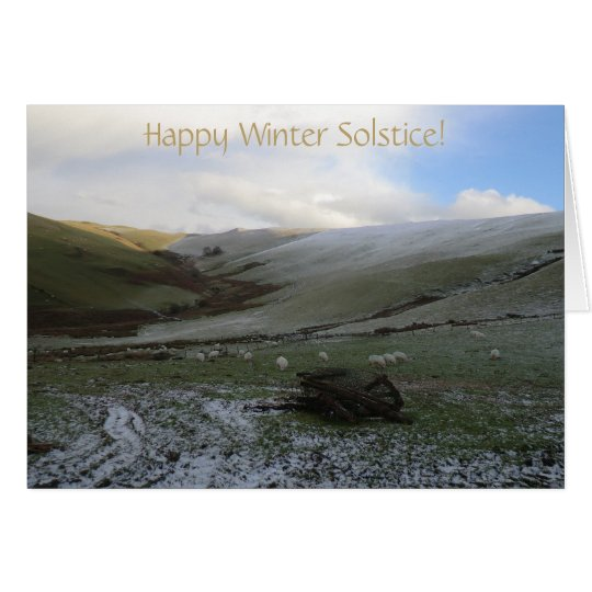 Welsh Mountains Winter Solstice Blessings Card