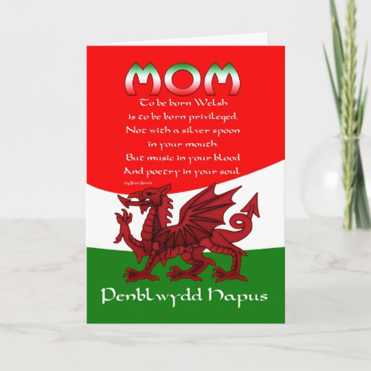Welsh Mum Birthday Card