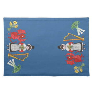 Welsh Placemat: Welsh Daffodils Dragon Leeks Harp Placemat