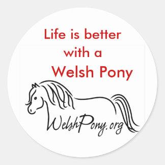 Welsh Pony & Cob Society Classic Round Sticker