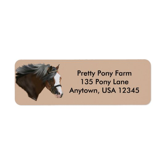 Welsh Pony Portrait Return Address Label