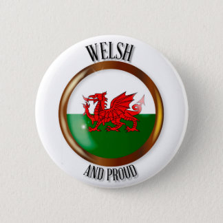 Welsh Proud Flag Button