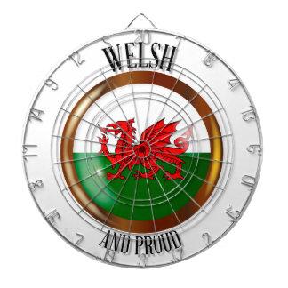 Welsh Proud Flag Button Dartboard