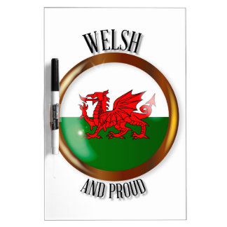 Welsh Proud Flag Button Dry Erase Board