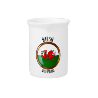 Welsh Proud Flag Button Pitcher