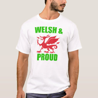 welsh & proud red and green dragon design t-shirt