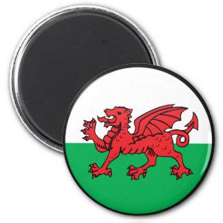 Welsh quality Flag Circle 6 Cm Round Magnet