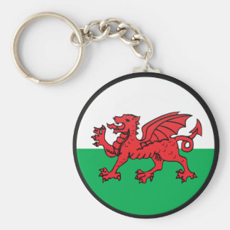 Welsh quality Flag Circle Key Ring