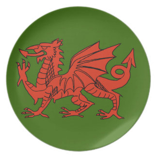 Welsh Red Dragon Plate
