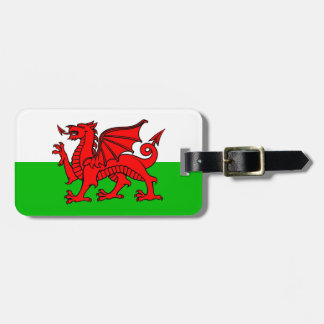 Welsh Red Dragon Wales Flag Bag Tag