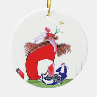 welsh rugby ball, tony fernandes round ceramic decoration