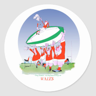 welsh rugby cheers, tony fernandes classic round sticker