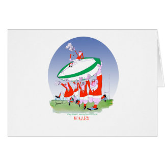 welsh rugby cheers, tony fernandes greeting card