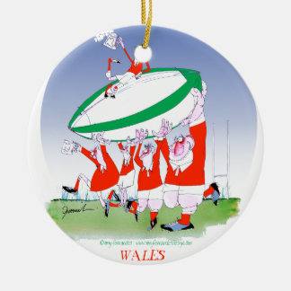 welsh rugby cheers, tony fernandes round ceramic decoration