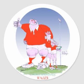 welsh rugby chums, tony fernandes round sticker
