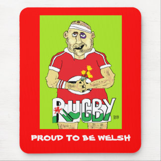 WELSH RUGBY MOUSEPAD
