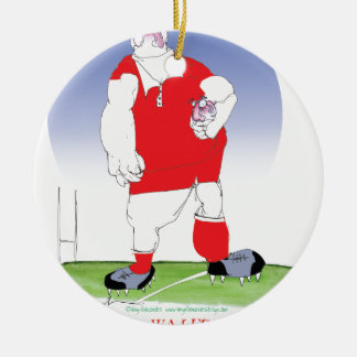 Welsh Rugby Player, tony fernandes Round Ceramic Decoration