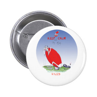 welsh rugby - put the boot in, tony fernandes 6 cm round badge