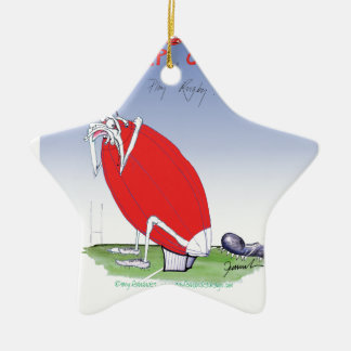 welsh rugby - put the boot in, tony fernandes ceramic star decoration