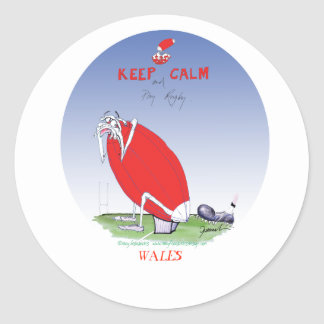welsh rugby - put the boot in, tony fernandes round sticker