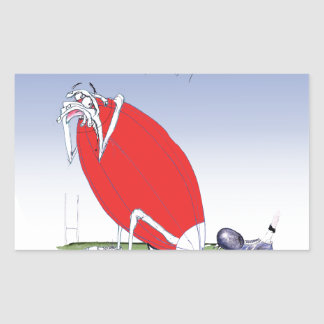 welsh rugby - put the boot in, tony fernandes rectangular sticker