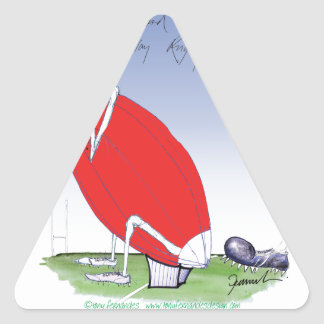 welsh rugby - put the boot in, tony fernandes triangle sticker
