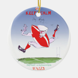 welsh rugby, tony fernandes round ceramic decoration
