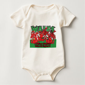 Welsh Six Nation Rugby Champions, W 30-3 E Baby Bodysuit