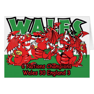 Welsh Six Nation Rugby Champions, W 30-3 E Card