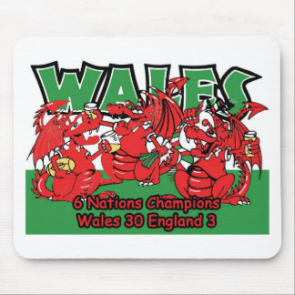 Welsh Six Nation Rugby Champions, W 30-3 E Mouse Mat
