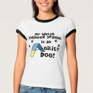 Welsh Springer Spaniel Agility Dog Ladies T-Shirt