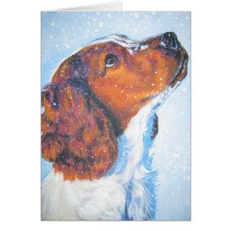 Welsh Springer Spaniel Christmas Card