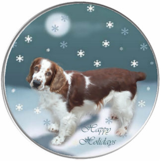 Welsh Springer Spaniel Christmas Gifts Ornament Photo Sculpture Decoration
