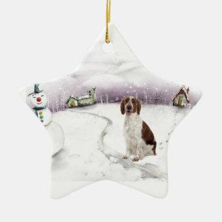 Welsh Springer Spaniel Christmas ornament