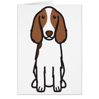 Welsh Springer Spaniel Dog Cartoon Card