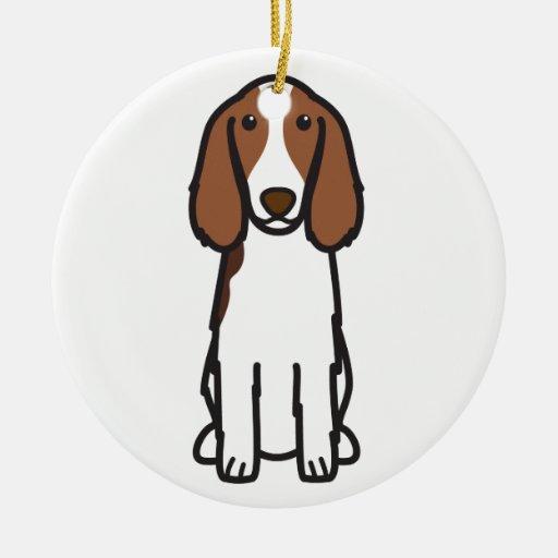 Welsh Springer Spaniel Dog Cartoon Ornament