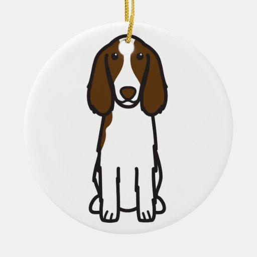 Welsh Springer Spaniel Dog Cartoon Ornaments
