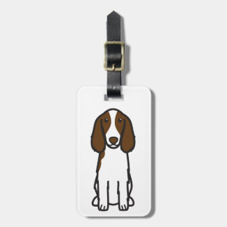 Welsh Springer Spaniel Dog Cartoon Luggage Tag