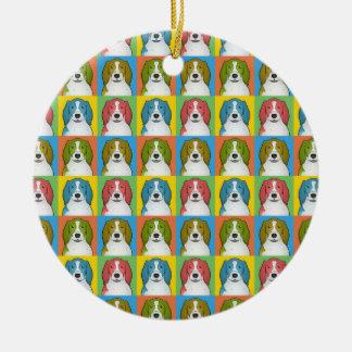 Welsh Springer Spaniel Dog Cartoon Pop-Art Christmas Ornament