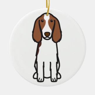 Welsh Springer Spaniel Dog Cartoon Round Ceramic Decoration