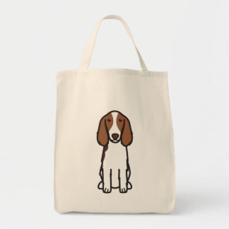 Welsh Springer Spaniel Dog Cartoon Tote Bag