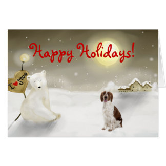 Welsh Springer Spaniel Holiday Card