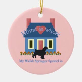 Welsh Springer Spaniel Home Is Christmas Ornaments
