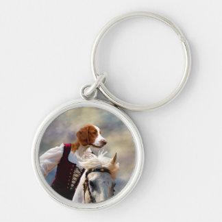 Welsh Springer Spaniel Lady Horserider  Keychain
