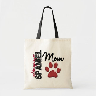 Welsh Springer Spaniel Mom Paw Print 2 Budget Tote Bag